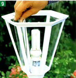 Установка садового светильника своими руками